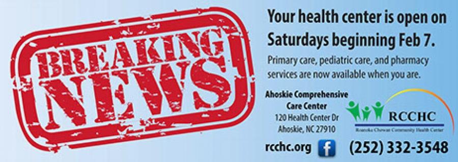Roanoke Chowan Community Health Center - RCCHC's Ahoskie ...